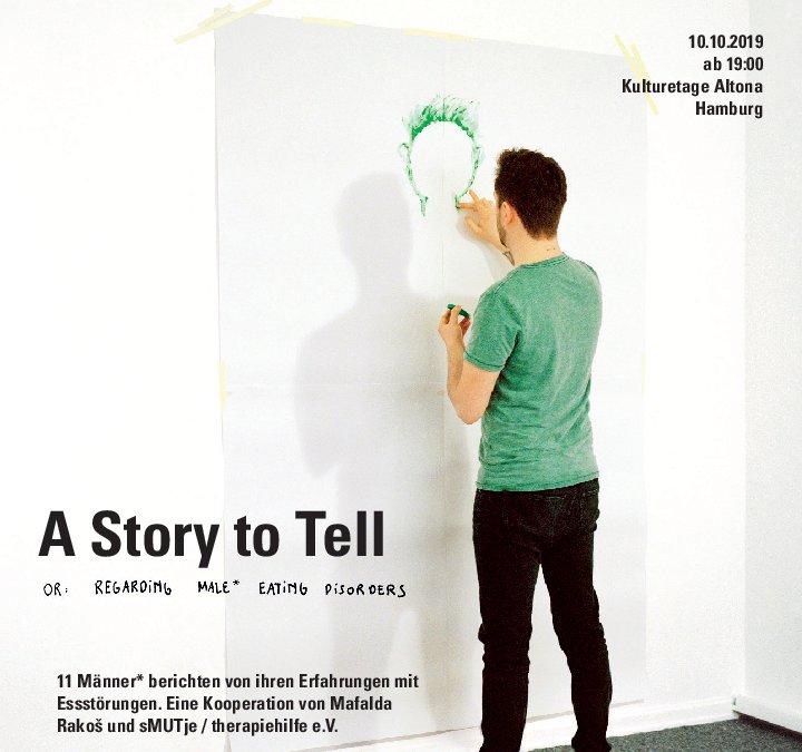 Fotoausstellung zum Thema Männer mit Essstörungen ab 10.10. in Altona