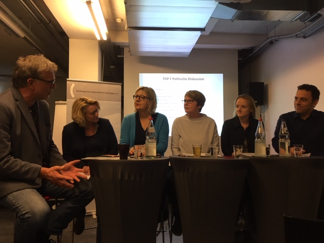 Bürgerschaftswahl 2020 – die Hamburgische Landesstelle für Suchtfragen e.V. präsentiert und diskutiert ihre Forderungen an die Politik